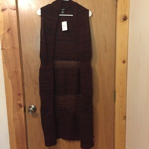 NWT Rue 21 Sleeveless Sweater Cardigan